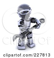 Royalty Free RF Clipart Illustration Of A 3d Robot Carrying A Spanner