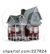 Royalty Free RF Clipart Illustration Of A 3d Victorian Styled Home 2