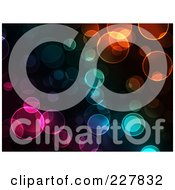 Royalty Free RF Clipart Illustration Of A Background Of Colorful Bokeh Lights On Black