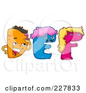Royalty Free RF Clipart Illustration Of A Digital Collage Of Monster Letters D Through F