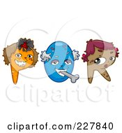 Royalty Free RF Clipart Illustration Of A Digital Collage Of Monster Letters P Through R