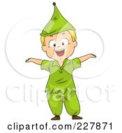 Royalty Free RF Clipart Illustration Of A Halloween Boy In A Dwarf Costume by BNP Design Studio