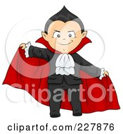 Royalty Free RF Clipart Illustration Of A Halloween Boy In A Vampire Costume