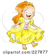 Royalty Free RF Clipart Illustration Of A Halloween Girl In A Princess Costume
