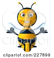 Royalty Free RF Clipart Illustration Of A 3d Bee Character Sitting And Meditating 1