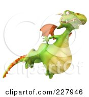 Royalty Free RF Clipart Illustration Of A 3d Dragon Flying
