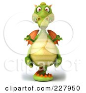 Royalty Free RF Clipart Illustration Of A 3d Dragon Balanced On His Tail 1