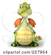 Royalty Free RF Clipart Illustration Of A 3d Dragon Facing Front by Julos