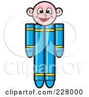 Royalty Free RF Clipart Illustration Of A Crayon Boy