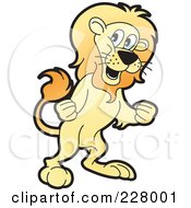 Royalty Free RF Clipart Illustration Of A Mad Lion