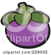 Royalty Free RF Clipart Illustration Of A Purple Mangosteen