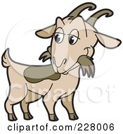 Royalty Free RF Clipart Illustration Of A Goat