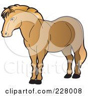 Royalty Free RF Clipart Illustration Of A Strong Horse