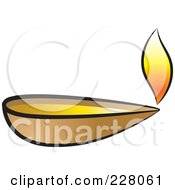 Royalty Free RF Clipart Illustration Of A Clay Oil Lamp by Lal Perera