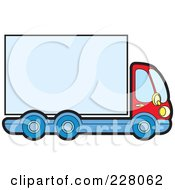 Royalty Free RF Clipart Illustration Of A Big Rig With A Blank Trailer