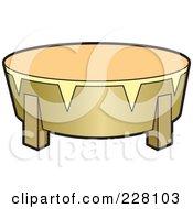 Royalty Free RF Clipart Illustration Of A Sinhala Tambourine