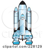 Royalty Free RF Clipart Illustration Of A Shuttle by Lal Perera