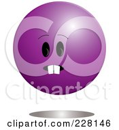 Purple Ball Emoticon Character