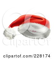 Royalty Free RF Clipart Illustration Of A Red Velvet Santa Hat With White Trim