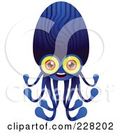Royalty Free RF Clipart Illustration Of An Alien With An Octopus Body by Tonis Pan
