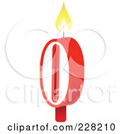 Royalty Free RF Clipart Illustration Of A Number 0 Birthday Cake Candle