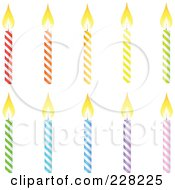 Digital Collage Of Colorful Birthday Candles