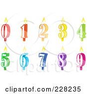 Royalty Free RF Clipart Illustration Of A Digital Collage Of Numbered Birthday Cake Candles by Tonis Pan