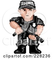 Pixelated Swat Team Officer