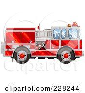 Pixelated Fire Engine