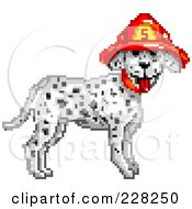 Royalty Free RF Clipart Illustration Of A Fire Department Dalmatian Dog Wearing A Helmet