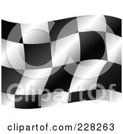Royalty Free RF Clipart Illustration Of A Checkered Auto Racing Flag Waving by MilsiArt