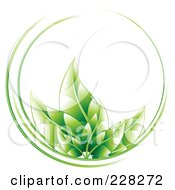 Royalty Free RF Clipart Illustration Of A Circle Of Green Leaves And Green Lines