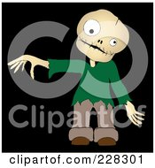 Royalty Free RF Clipart Illustration Of A Zombie Boy Holding Out A Hand by Pams Clipart