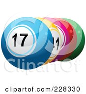 Royalty Free RF Clipart Illustration Of A Shiny 3d Lottery Balls by elaineitalia