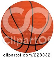 Royalty Free RF Clipart Illustration Of A 3d BasketBall by elaineitalia