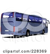 Royalty Free RF Clipart Illustration Of A Blue Tourist Bus by leonid