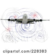 Royalty Free RF Clipart Illustration Of An Airliner In Flight by leonid