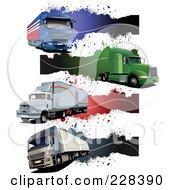 Digital Collage Of Trucking Grunge Website Headers by leonid