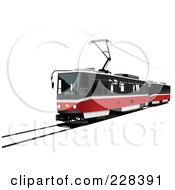 Royalty Free RF Clipart Illustration Of A Public Tram 5 by leonid
