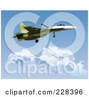 Royalty Free RF Clipart Illustration Of A Military Jet 1