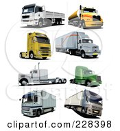 Digital Collage Of Lorry Trucks 1 by leonid
