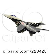 Royalty Free RF Clipart Illustration Of A Military Jet 2