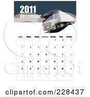 Royalty Free RF Clipart Illustration Of A December 2011 Big Rig Calendar by leonid