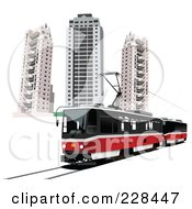 Royalty Free RF Clipart Illustration Of A Public Tram 3 by leonid