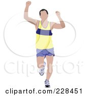Royalty Free RF Clipart Illustration Of A Male Jogger 2 by leonid