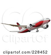 Royalty Free RF Clipart Illustration Of A Commercial Airliner 17