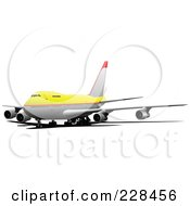 Royalty Free RF Clipart Illustration Of A Commercial Airliner 13
