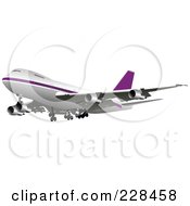 Royalty Free RF Clipart Illustration Of A Commercial Airliner 12