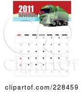 November 2011 Big Rig Calendar by leonid