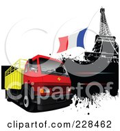Grungy Lorry And Eiffel Tower by leonid